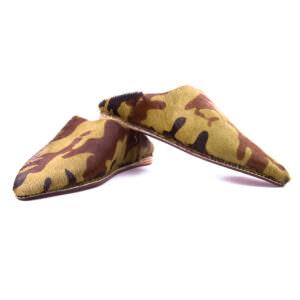 babouche-cuir-poilu-militaire-2