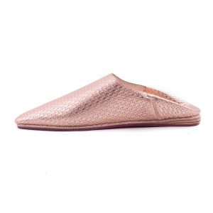 Starry Silver Leather Slippers