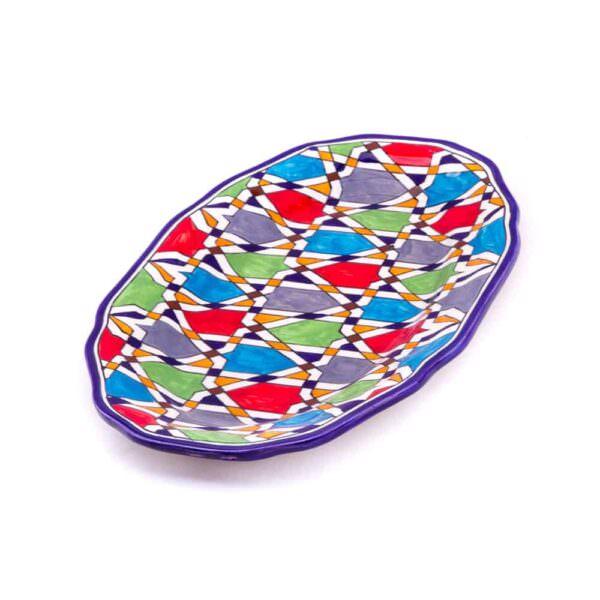 Grand Plat en poterie Marocain, céramique
